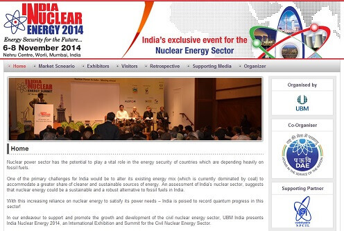 Event - India Nuclear Energy 2014